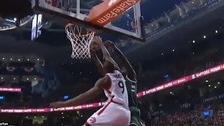 Serge Ibaka STUFFS Thon Maker's Layup with Only ONE Good Ankle
