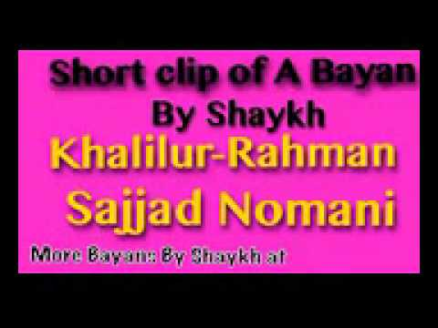 Mo.sajjad Nomani Bayan Say To Youn Girls And Boys video