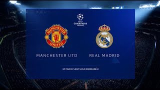 Fifa 19 Manchester United vs Real Madrid Xbox One S Full Match Gameplay