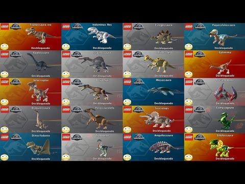 LEGO Jurassic World Como Liberar Todos os Dinossauros Dublado PT.BR