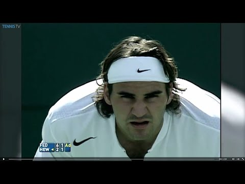 Roger Federer v Lleyton Hewitt in 2005 final - best BNP Paribas Open rally ever?
