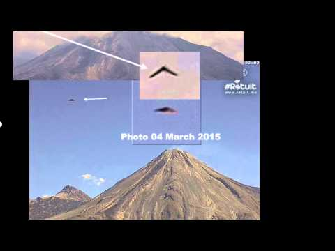AGAIN!!! UFO Sightings Massive Boomerang UFO Broad Daylight Over Volcano 2015