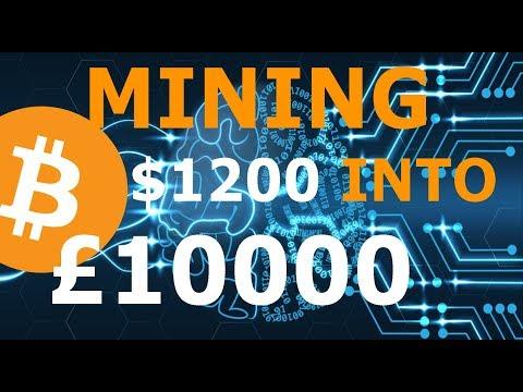 Turn £1200 into $10000 Bitcoin Mining With Hashflare. BTC Cloud Mining Profitable$$$