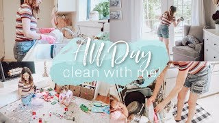 ALL DAY CLEAN WITH ME 2019 | EXTREME CLEANING MOTIVATION | Justine Marie