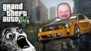 GTA V: RUNNING PEOPLE OVER! (GTA 5 Funny Moments)