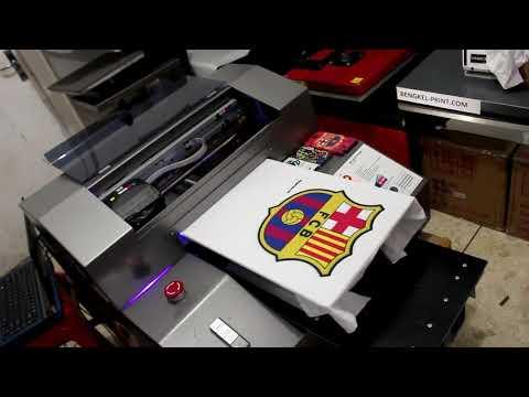 Printing Kaos menggunakan Printer UV (T-shirt Printing)