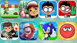 Super Mario Run,Ben 10,Tenny Titans,2,Spider-Man,Game Frenzy,Subway Surf,Oddbods Turbo