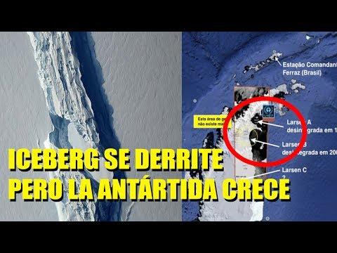 ANTÁRTIDA: COLOSAL ICEBERG del tamaño de Palestina SE DERRITE pero la Antártida crece