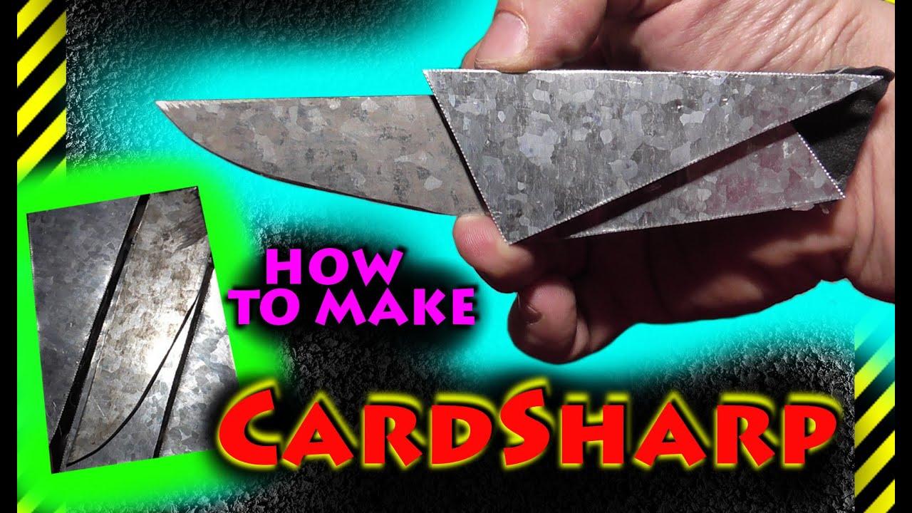 Нож-визитка своими руками 58