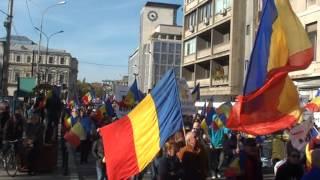 Marșul Unirii de la București a fost filmat și de sus