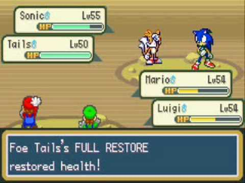 [Rom Hacking] Mario & Luigi fight Sonic & Tails
