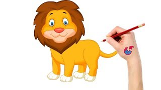 Learning How To Draw Animals For Toddlers Lion - Puzzle Kid Drawing
