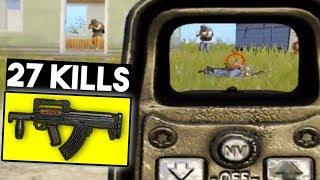 GROZA DESTROYING SQUAD IN SECONDS   27 KILLS vs Squad   PUBG Mobile