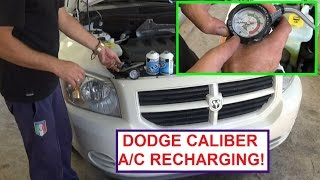 How to Recharge the A/C System on a Dodge Caliber.  Dodge Caliber Air Conditioning Recharging