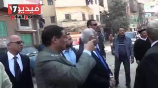 بالفيديو محافظ القاهرة يتفقد منطقة قلعة الكبش ويضط مخالفات بها