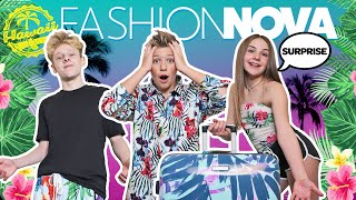 My BOYFRIEND REACTS to FASHION NOVA Outfits SURPRISE **Hawaii Vacation**🌺| Piper Rockelle