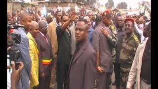 Sassou Nguesso dans le quartier du Forum Radio Télévision des Droits de l