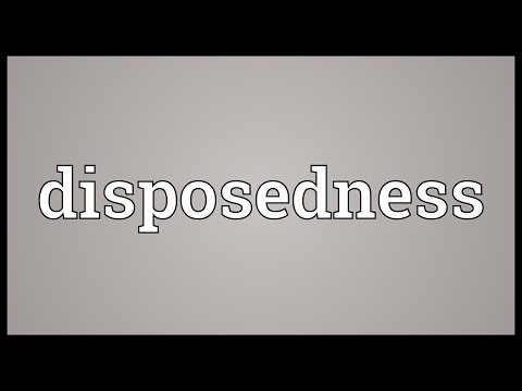 Header of disposedness