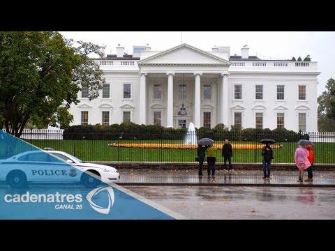 Hombre intenta burlar la seguridad de la Casa Blanca y ¡casi lo logra!
