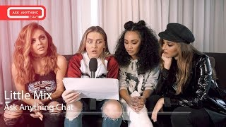 "Little Mix talk about Leigh-Anne ""snoggin' on the pillow that has Andre on it"""