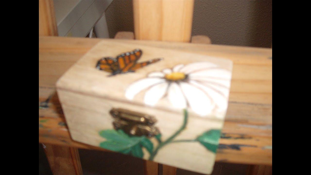 Decoracion cajita de madera youtube - Cajas de vino para decorar ...