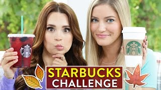 STARBUCKS CHALLENGE: Fall Drinks!