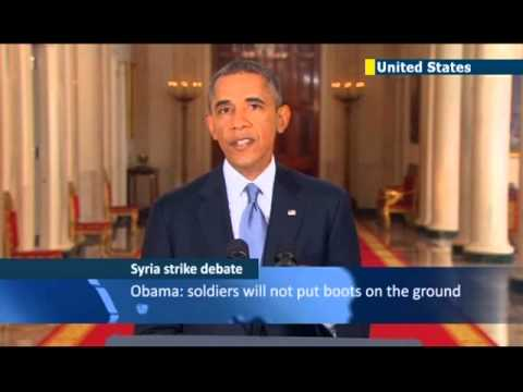 US public reacts to Obama Syria speech: US president pushing for anti-Assad military intervention