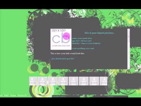 1/8 MySpace Div Overlay Layout Tutorial February 3, 2009 Video