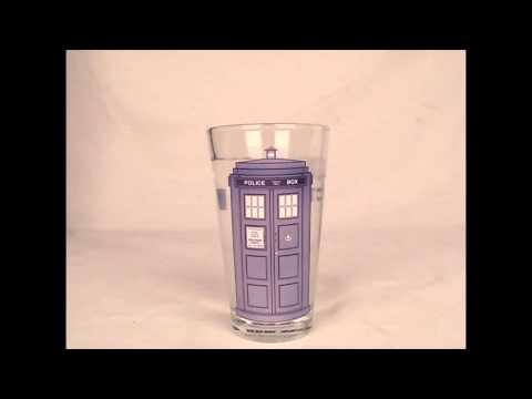 Doctor Who Color-Changing TARDIS 16 oz. Glass Set of 2