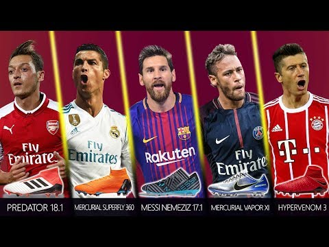 13 Best Footballers and New Boots early 2018 | Ft. CR7, Messi, Neymar Jr, Pogba, Dybala .etc..