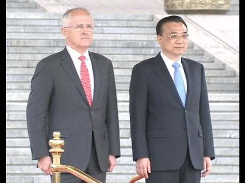 Chinese Premier welcomes visiting Australian PM in Beijing