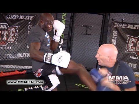 UFC 137's Cheick Kongo: Exclusive Striking Workout (focus mitts + thai pads) Image 1