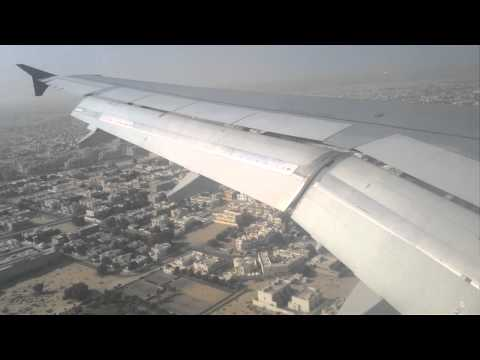Landing on Flight from Doha to Dubai with Qatar Airways A320-232 on Flight QR 106 with A7-ADB