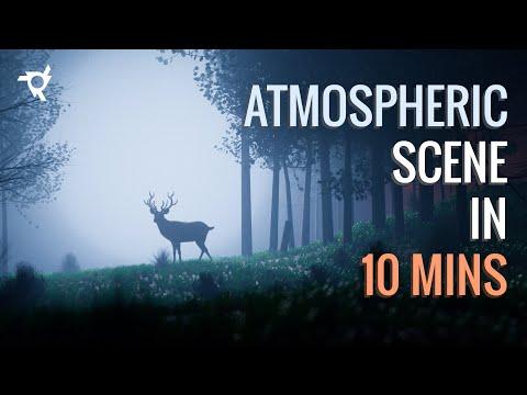 How to make an Atmospheric Scene under 10 mins! | Blender 2.8 Tutorial