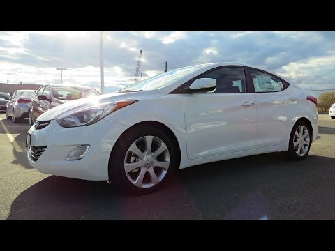 2013 Hyundai Elantra Limited (Navigation) Start up. Walkaround and Vehicle Tour