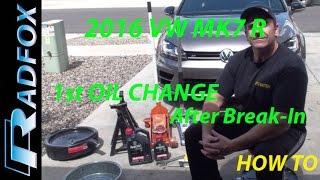 2016 Golf R MK7 First Oil Change After Break-In