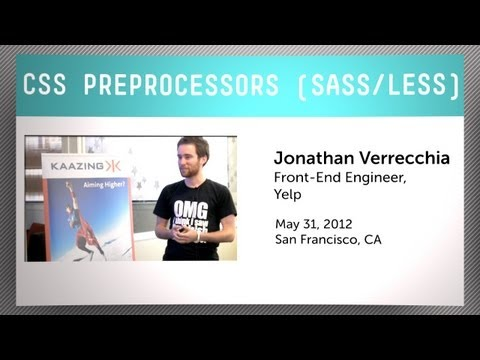 CSS preprocessors with Jonathan Verrecchia