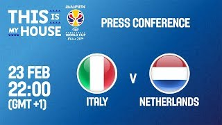 Italy v Netherlands - Press Conference - FIBA Basketball World Cup 2019 - European Qualifiers