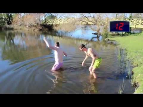 Tim & Josh - Pledge Week - Pond Swim