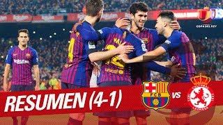 Resumen de FC Barcelona vs Cultural Leonesa 4-1
