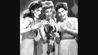 Watch Andrews Sisters Well All Right tonights The Night video
