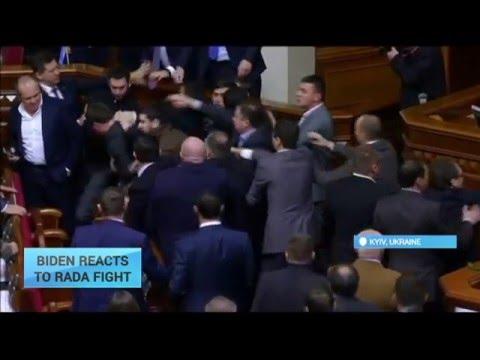 Biden Reacts to Rada Fight: US VP condemns attack on Ukraine's PM Yatsenyuk in parliament