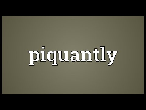 Header of piquantly