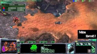 Starcraft 2 Zergs vs Terrans: Idra(Z) vs NamhciR(T) (Blistering Sands)