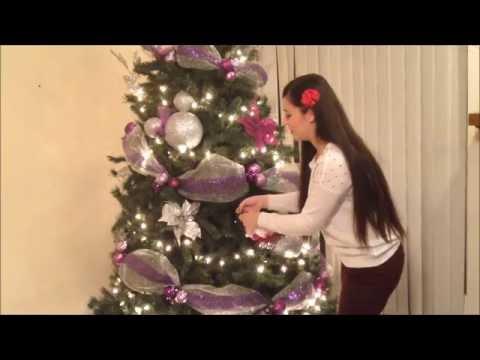 Como decore mi arbol de navidad morado youtube - Arbol de navidad morado ...