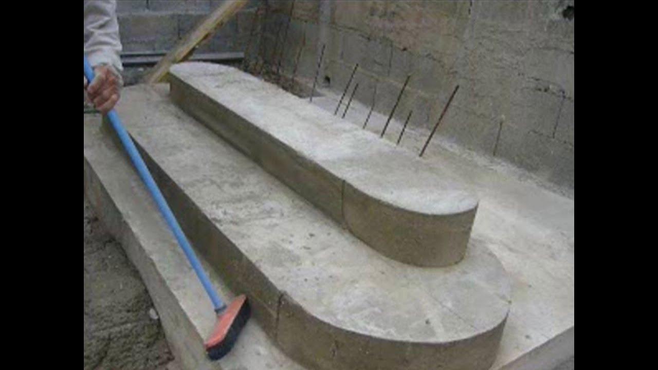 Construire un escalier en b ton youtube - Comment refaire des escaliers ...