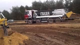 Scania Test Tour 2015 Off Road, ładowarka CAT 966K+Scania G450