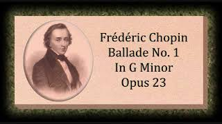 Chopin Ballade No 1 In G Minor Opus 23