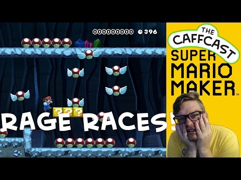 Mario Maker RAGE RACES!!! (Expert Courses) - Don't Touch The Mushrooms!