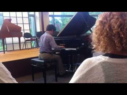 Noah Shafner's Piano Recital on 8-20-14 at Tunxis Community College in Farmington, CT